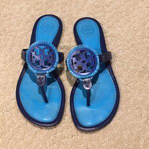 Tory Burch Miller Blue Sandals